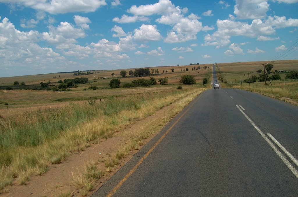Road between Sasolburg and Heilbron