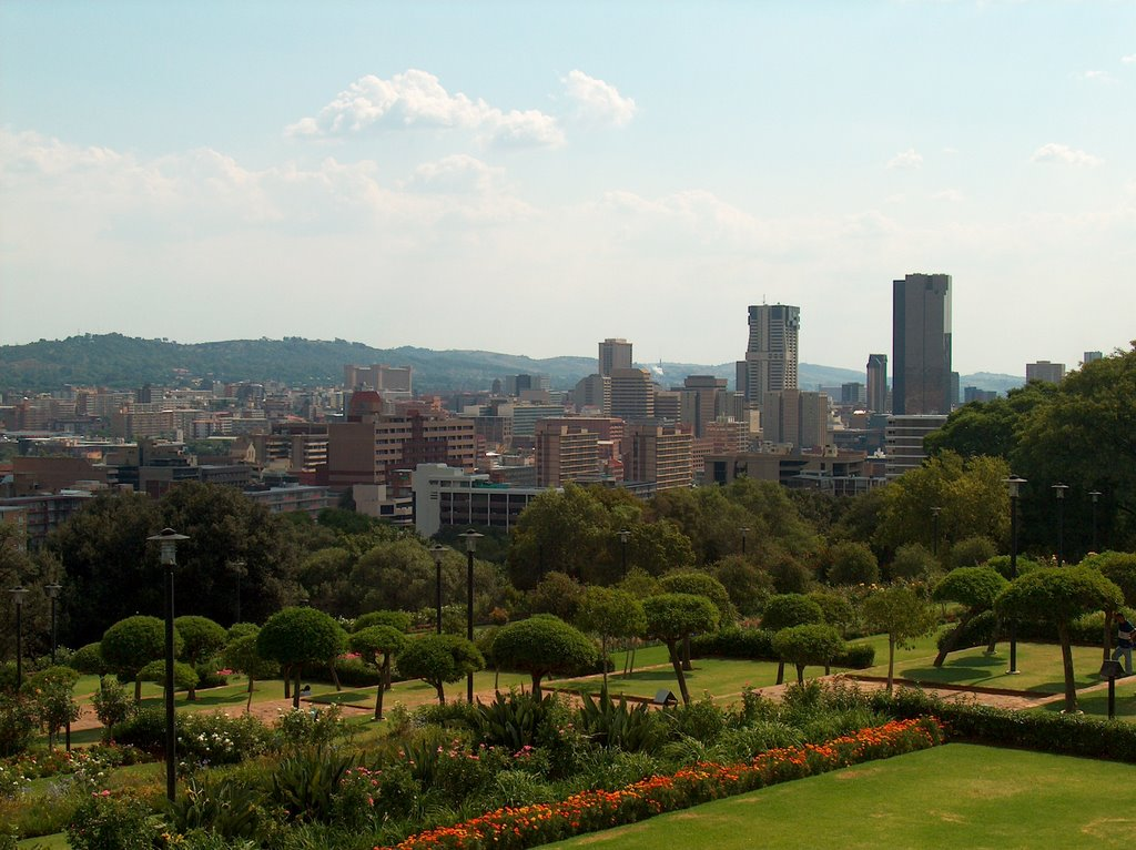 Pretoria viewed from Union Buildings