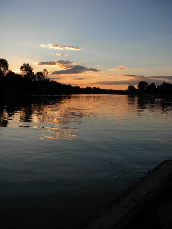 Sunset on Vaal River, Bloemhof