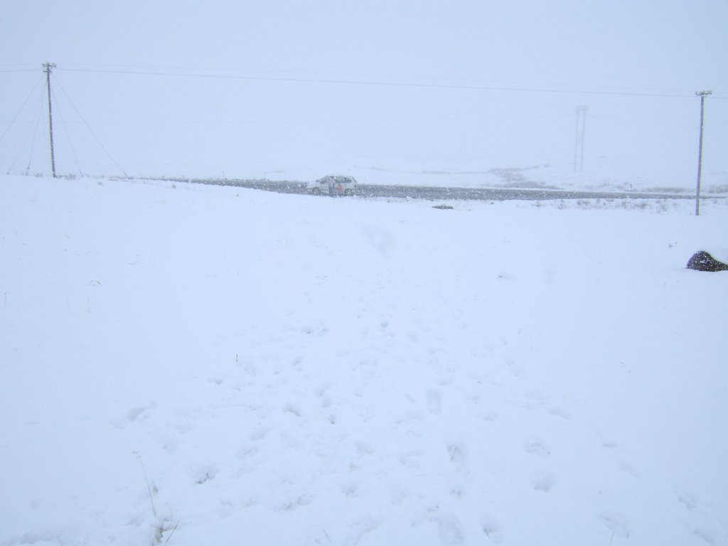 Snow near Impendle Sep-08
