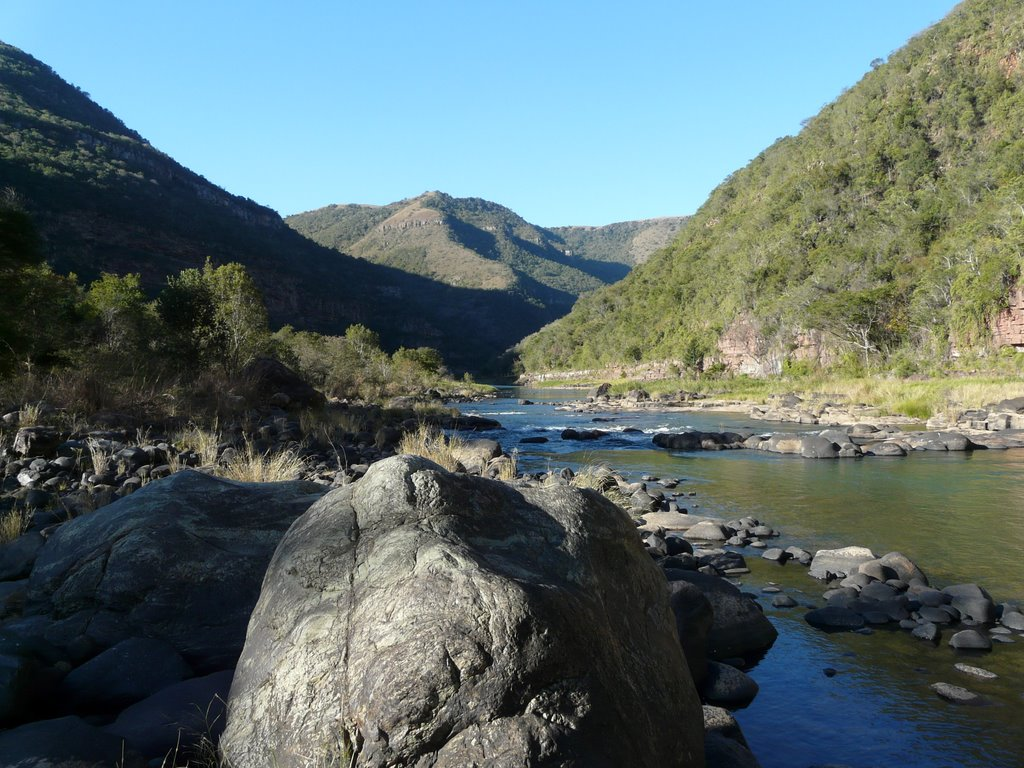 Umkomaas river on The Duma Manzi Reserve in South Africa