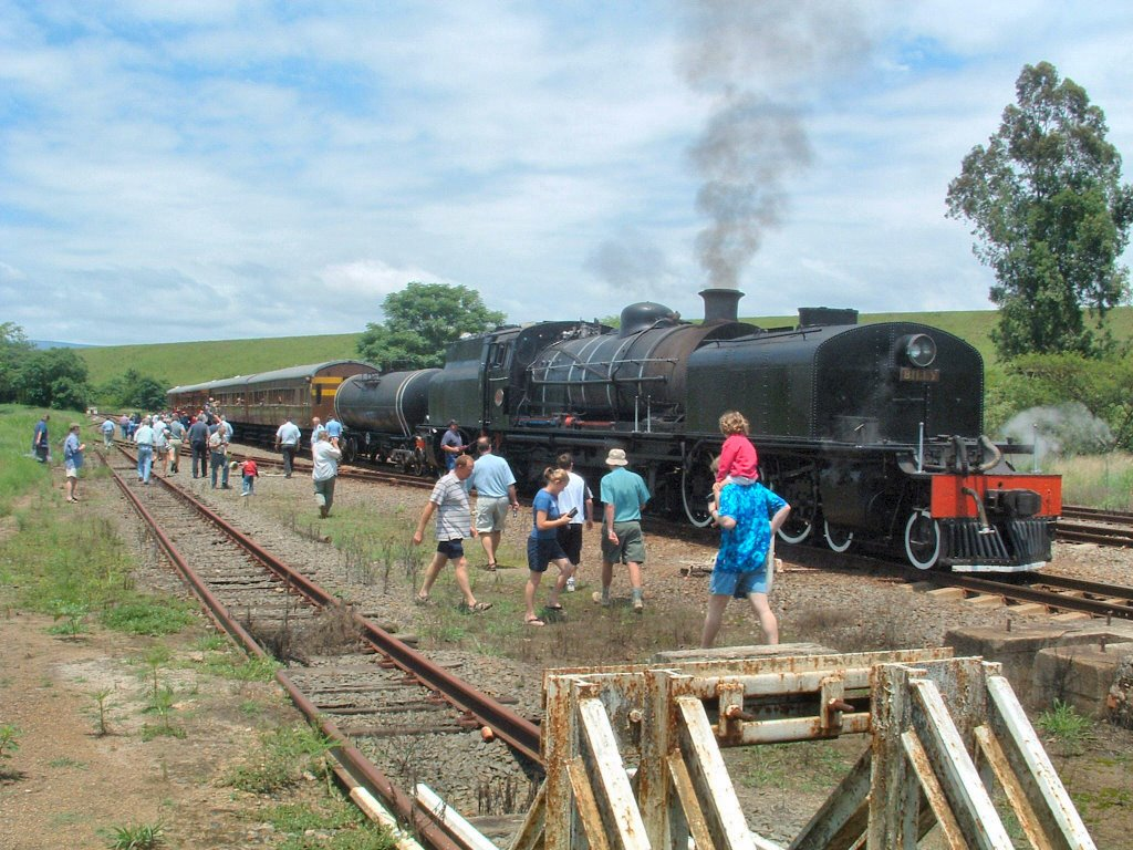 "Class Garratt GF ""Billy"" No.2380 Steam Locomotive at the Albert Falls Siding"