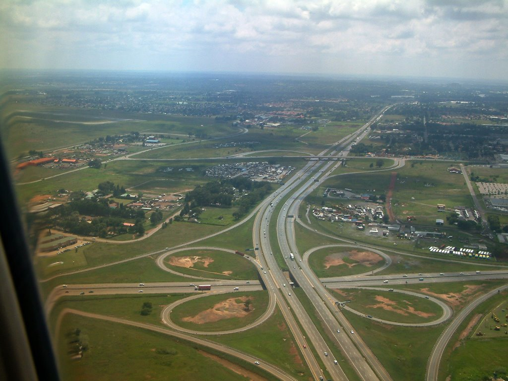 Aerial shot of N12 Highway