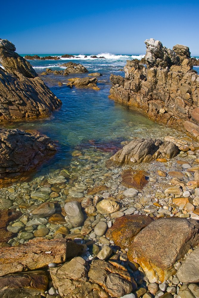 Crystal clear water at Cape Agulhas