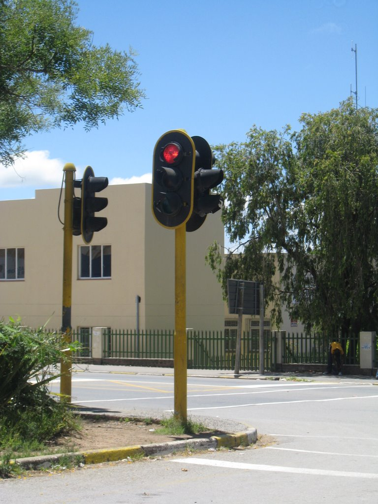 One and only traffic light in Stutterheim