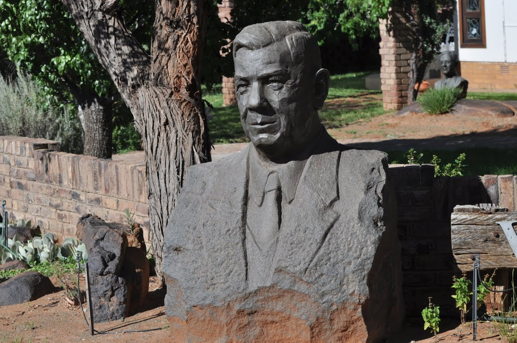 Statue of Hendrik Verwoerd that was moved from the Steve Biko Hospital in Pretoria to Orania