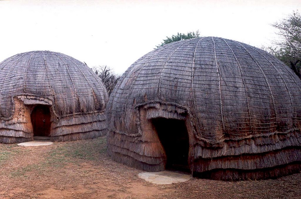 Rondavels in Zulu Cultural Village (Ondini)