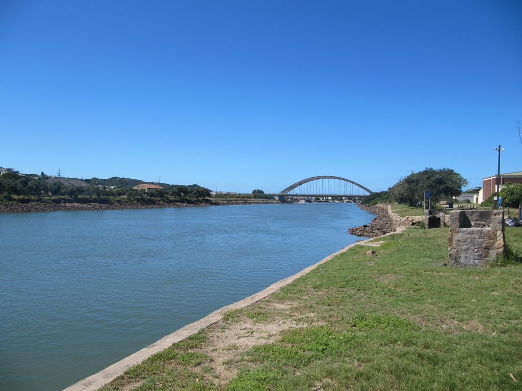 View over Kowie River and Port Alfred Bridge