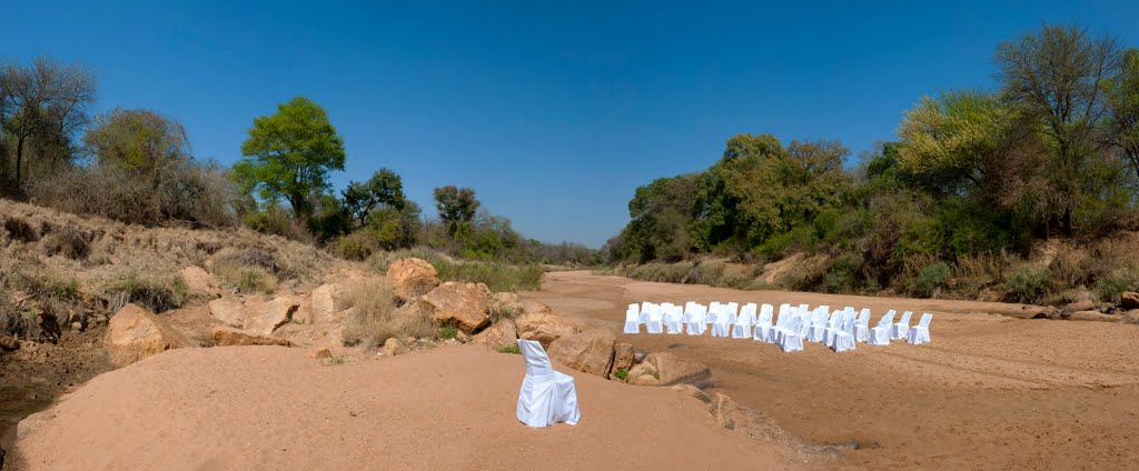 Wedding in the creek bed