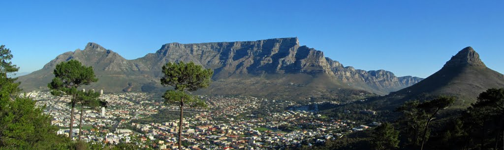 Panoramic view incl Capetown, table mountain and some of the 12