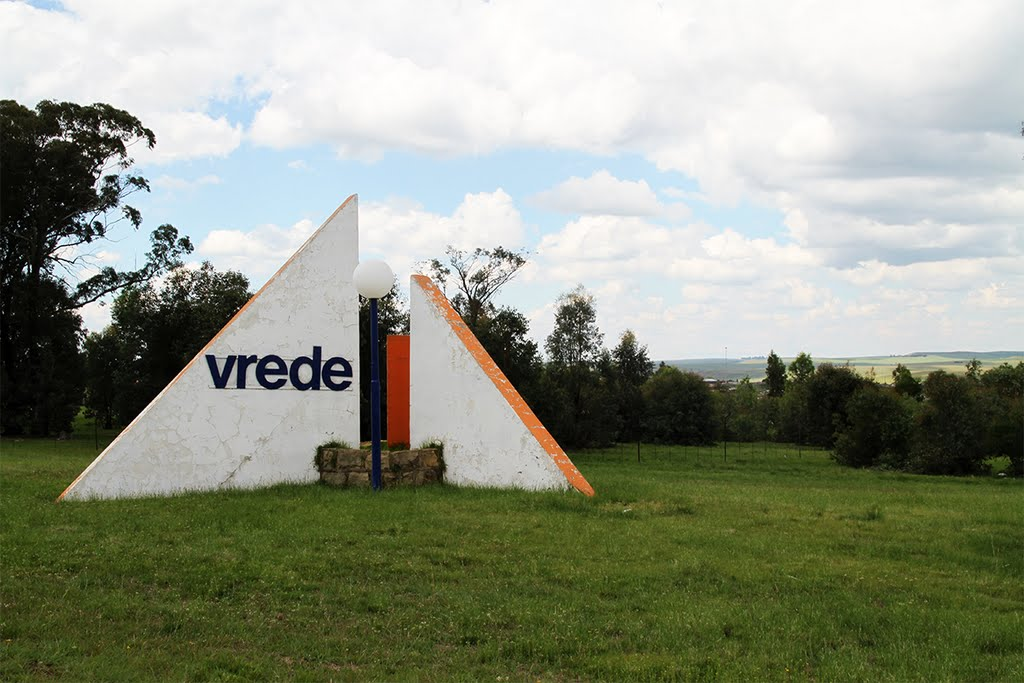 "Welcome to Vrede (""peace"")"