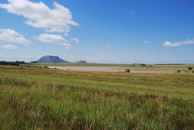 Lovedale Dam with Thaba Phatchwa Mountain in the background